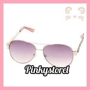 Betsey Johnson Rose Gold Sunglasses